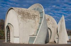 A arquitetura soviética em Kiev, Ucrânia imagem de stock royalty free