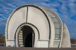 A arquitetura soviética em Kiev, Ucrânia fotografia de stock