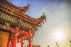 Arquitetura tradicional chinesa Foto de Stock
