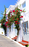 Arquitetura tradicional da vila de Chora na ilha de Kythera, Gre Foto de Stock