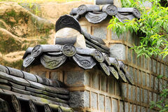 Arquitetura tradicional de Coreia - Gyeongheuigung fotografia de stock royalty free