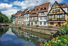 Arquitetura tradicional de Kolmar, France Imagens de Stock