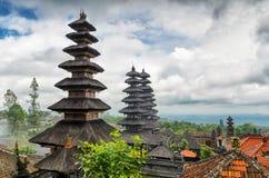 Arquitetura tradicional do balinese. O templo de Pura Besakih Imagem de Stock Royalty Free