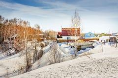 Arquitetura tradicional do russo Fotos de Stock Royalty Free