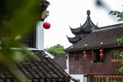 Arquitetura tradicional e cenário bonito em Shan Tang Jie fotografia de stock