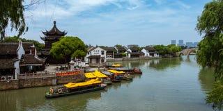Arquitetura tradicional e cenário bonito em Shan Tang Jie Fotografia de Stock Royalty Free