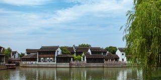 Arquitetura tradicional e cenário bonito em Shan Tang Jie Imagens de Stock Royalty Free