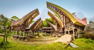 Arquitetura tradicional em Toraja fotografia de stock