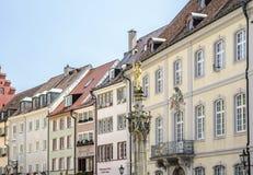 Arquitetura tradicional na cidade de Freiburg, Alemanha Foto de Stock Royalty Free