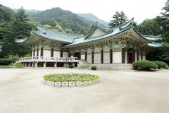 Arquitetura tradicional norte de Coreia Fotografia de Stock Royalty Free