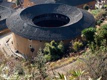 Arquitetura Tulou-especial de Fujian de China Foto de Stock Royalty Free