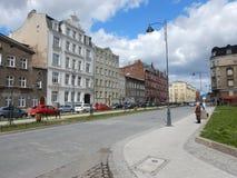 Arquitetura urbana Olhar artístico em cores vívidas do vintage Imagem de Stock Royalty Free