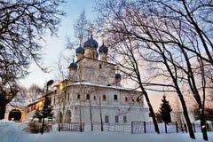 Arquitetura velha do parque de Kolomenskoye Catedral do ícone de Kazan fotos de stock royalty free
