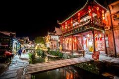 A arquitetura velha e a maioria de vila bonita da porcelana chamam a vila de Likeng do ` no ` de Wuyuan upcountry de China foto de stock royalty free