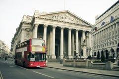 Arquitetura vermelha Reino Unido da cidade do barramento de Londres Foto de Stock Royalty Free