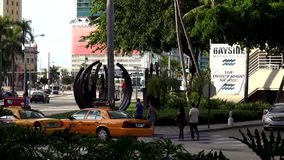 Arquiteturas da cidade de Miami EUA da área de Bayside vídeos de arquivo