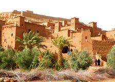 Arquiteturas marroquinas antigas do estilo de Ait Ben Haddou, Marrocos Imagem de Stock