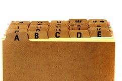 Arquivo de cartão Imagens de Stock