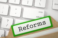 Arquivo de cartão com reformas 3d Fotos de Stock Royalty Free