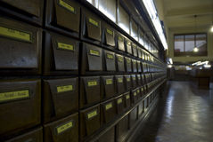 Arquivo de madeira da biblioteca, Montevideo Foto de Stock
