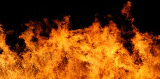 Arquivo do panorama XXL do incêndio Imagens de Stock