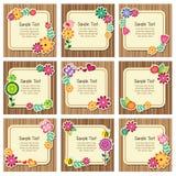 Cartões do convite da natureza da floresta Fotografia de Stock
