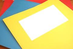 Arquivo em branco imagem de stock