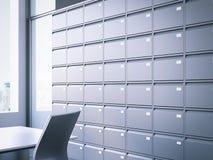 Arquivo fechado rendição 3d Imagem de Stock