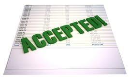 Arquivo financeiro aceitado isolado no branco Imagens de Stock