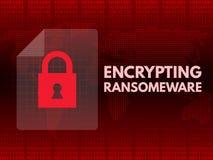Arquivos cifrados de Malware Ransomware vírus wannacry Foto de Stock