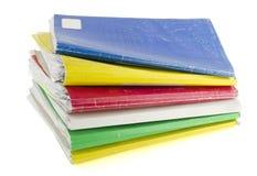 Arquivos coloridos retros de papel velhos Imagem de Stock Royalty Free