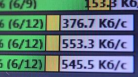 Arquivos da velocidade da transferência vídeos de arquivo