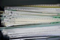 Arquivos de arquivo Imagem de Stock