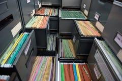 Arquivos de arquivo Imagens de Stock