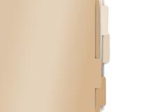 Arquivos de papel do dobrador Foto de Stock