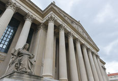 Arquivos do Estados Unidos que constrói no Washington DC Foto de Stock Royalty Free