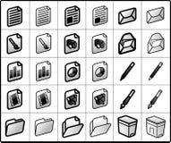 arquivos e ícones do correio Imagens de Stock Royalty Free
