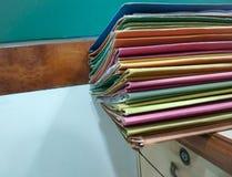 Arquivos e dobradores imagens de stock