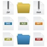 Arquivos e dobradores Imagem de Stock Royalty Free