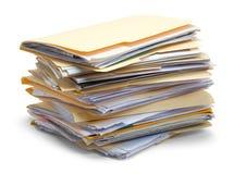 Arquivos empilhados acima Fotografia de Stock Royalty Free
