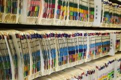 Arquivos médicos Imagens de Stock Royalty Free