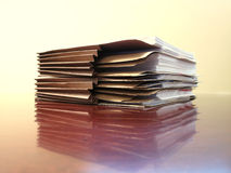 Arquivos na mesa Fotografia de Stock