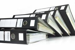 Arquivos pretos do escritório Fotografia de Stock Royalty Free