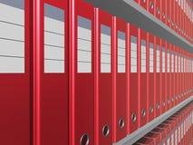 Arquivos vermelhos foto de stock