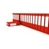 Arquivos vermelhos do escritório Imagem de Stock Royalty Free