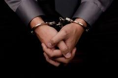 Arrêté pour l'interrogation Image libre de droits