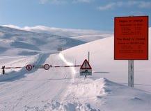 Arrêt ! Cap du nord, Norvège Photos libres de droits