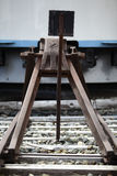 Arrêt d'amortisseur de chemin de fer Photographie stock libre de droits