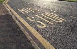 Arrêt d'autobus à n'importe où Photo stock