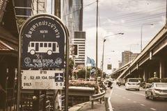Arrêt d'autobus BKK Thaïlande Images libres de droits